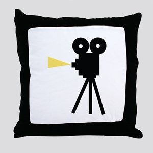 Movie Camera Throw Pillow