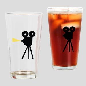 Movie Camera Drinking Glass