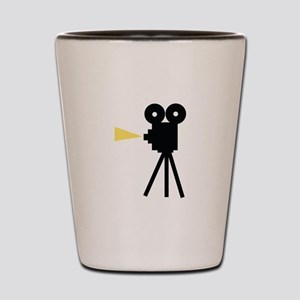 Movie Camera Shot Glass