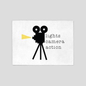 Camera Action 5'x7'Area Rug