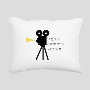 Camera Action Rectangular Canvas Pillow