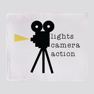 Camera Action Throw Blanket