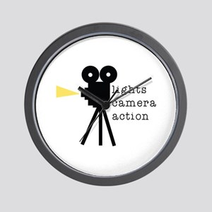 Camera Action Wall Clock