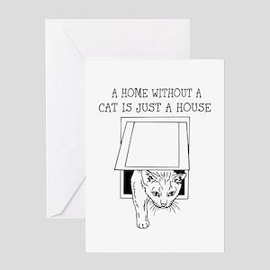Cute Cat Humor Design Greeting Cards