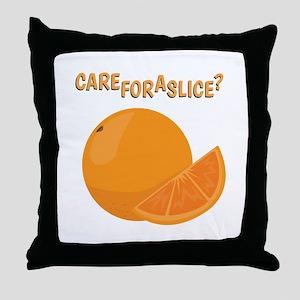 A Slice Throw Pillow
