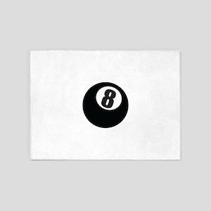 8 Ball 5'x7'Area Rug