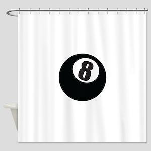 8 Ball Shower Curtain