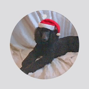Standard Poodle Ornament (Round)