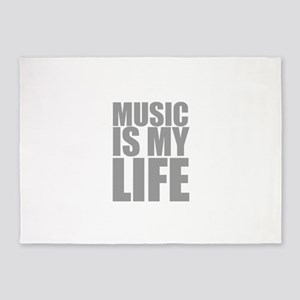 Music Is My Life 5'x7'Area Rug
