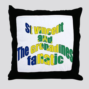 St Vincent & The Grenadines Fanatic Throw Pillow