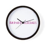 Badonkalicious Wall Clock