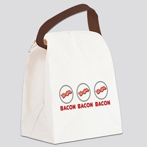 Bacon Bacon Bacon Canvas Lunch Bag