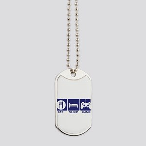 Eat Sleep Game Dog Tags