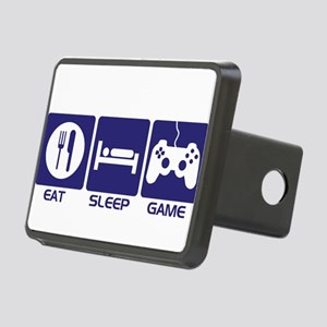 Eat Sleep Game Rectangular Hitch Cover