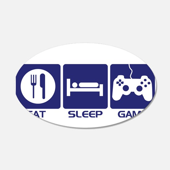 Eat Sleep Game Wall Sticker