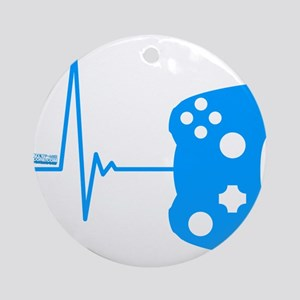 Gamer Heartbeat Ornament (Round)