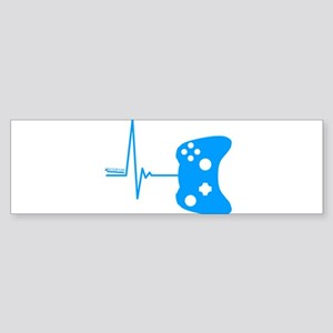 Gamer Heartbeat Bumper Sticker