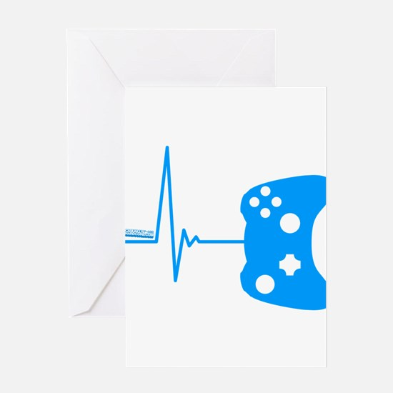 Gamer Heartbeat Greeting Cards