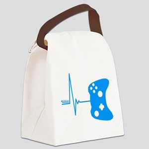 Gamer Heartbeat Canvas Lunch Bag