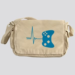 Gamer Heartbeat Messenger Bag