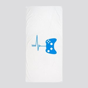 Gamer Heartbeat Beach Towel