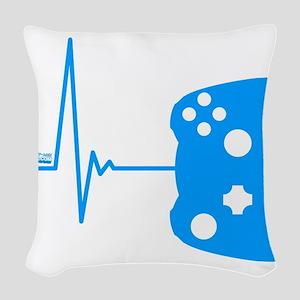 Gamer Heartbeat Woven Throw Pillow