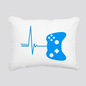 Gamer Heartbeat Rectangular Canvas Pillow