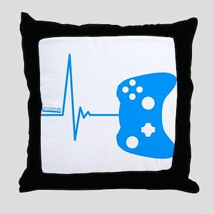 Gamer Heartbeat Throw Pillow