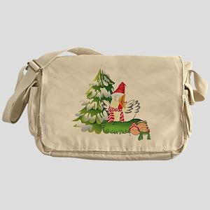 Funny Christmas Chicken and Eggs Messenger Bag