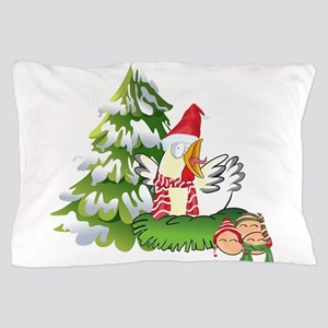 Funny Christmas Chicken and Eggs Pillow Case
