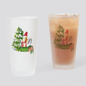 Funny Christmas Chicken and Eggs Drinking Glass