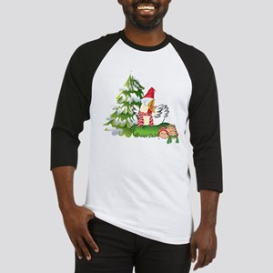Funny Christmas Chicken and Eggs Baseball Jersey