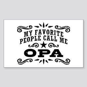 Funny Opa Sticker (Rectangle)