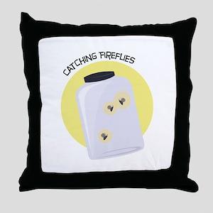 Catching Fireflies Throw Pillow