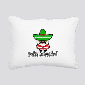 Feliz Navidad Rectangular Canvas Pillow
