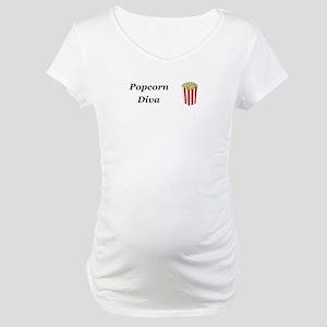 Popcorn Diva Maternity T-Shirt