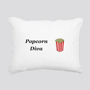 Popcorn Diva Rectangular Canvas Pillow