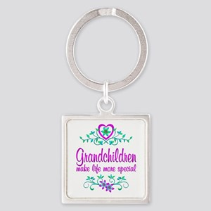 Special Grandchildren Square Keychain