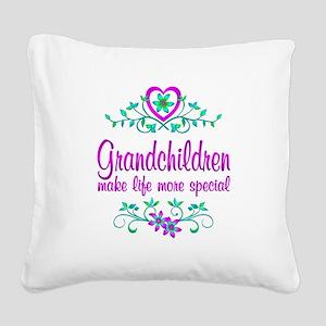 Special Grandchildren Square Canvas Pillow