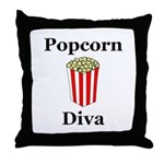 Popcorn Diva Throw Pillow