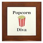 Popcorn Diva Framed Tile