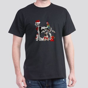 christmas pets in santa Dark T-Shirt