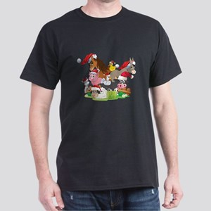 CUTE Farm Animal Christmas Dark T-Shirt