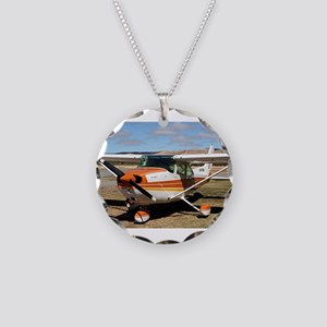 Plane: high wing Necklace Circle Charm