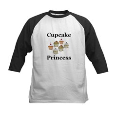 Cupcake Princess Kids Baseball Jersey