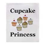Cupcake Princess Throw Blanket