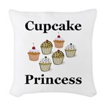 Cupcake Princess Woven Throw Pillow