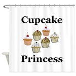 Cupcake Princess Shower Curtain