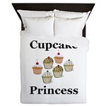 Cupcake Princess Queen Duvet