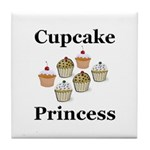 Cupcake Princess Tile Coaster
